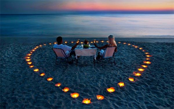 мужчина и женщина, вечер при свечах, как организовать романтический вечер