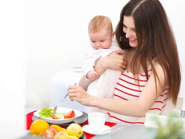питание при кормлении грудью, питание кормящей